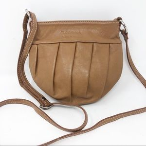 Florence pleated leather Crossbody made in Italy
